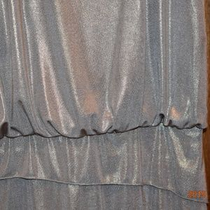Laundry By Shelli Segal Dresses - NWT Metallic Gold Silver Ruffled Cocktail Dress 4